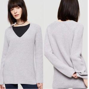 Lou & Grey Ribbed Tunic V-Neck Sweater